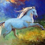 Art Reproductions And Original Oil Paintings Landscapes Running In The Wild Horse Painting L Horse Running In The Wild 2015