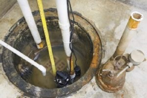 A sump pump is a basement waterproofing device that collects rain water and sends it away from the home to prevent flooding.