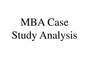 mba case study analysis
