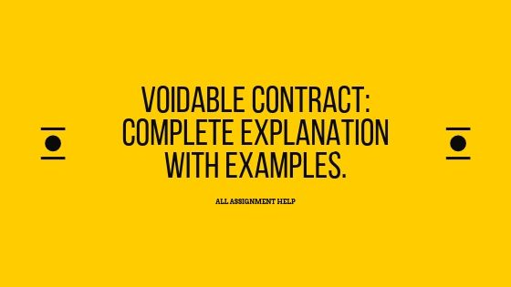 Voidable Contract