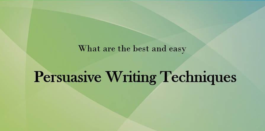 Persuasive Writing Techniques