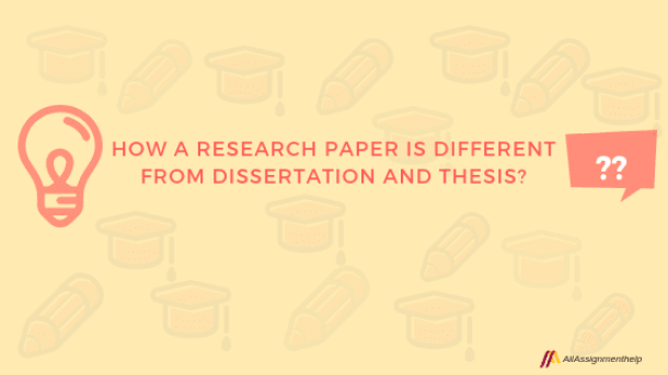 Dissertation vs research paper