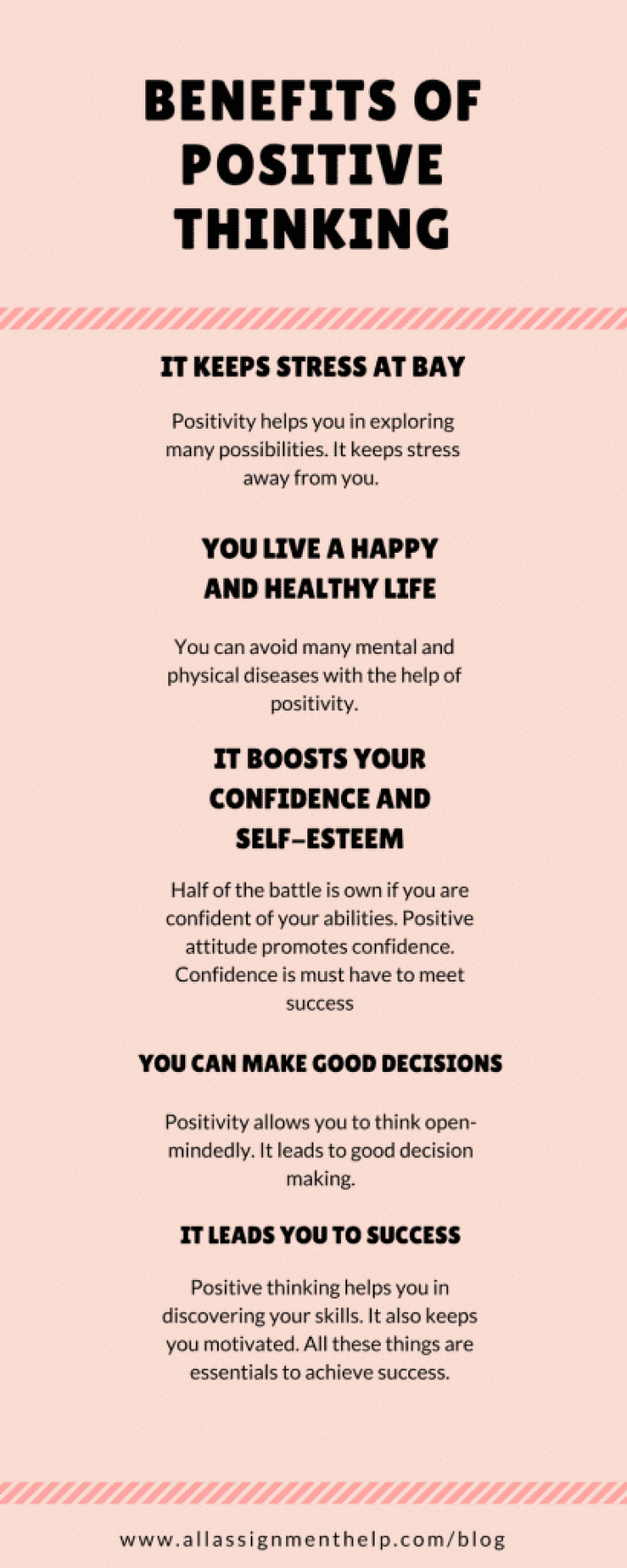 Reduce stress by positive thinking