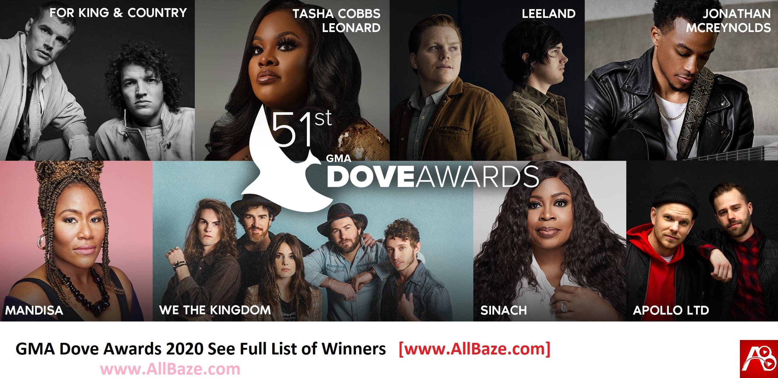 GMA Dove Awards 2020 Winners