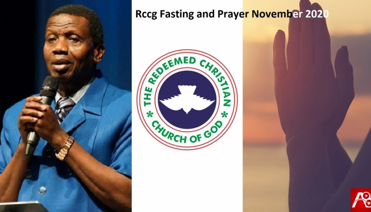 Rccg Fasting and Prayer November 2020 pdf