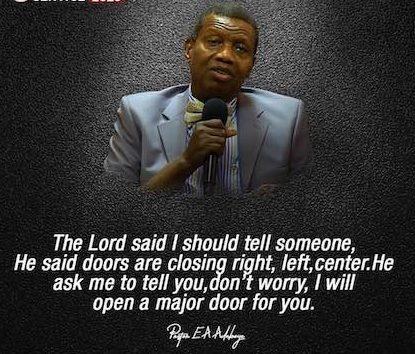 open heaven Pastor E. A. Adeboye