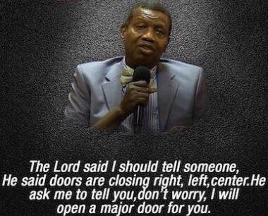 open heaven Pastor Adeboye