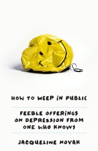 How to Weep in Public book review - In this snarky tongue-in-cheek guide on how to be 'properly' depressed, you'll be laughing at some points and shaking your head at others .. because you know what Novak is talking about. As you read, it's almost like Novak is reading to you because this book is so full of personality.