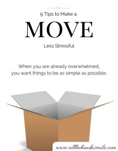 Moving to a new place is already crazy as is - new friends, new home, new job ... the last thing you need on your plate is more stress. These tips aim to decrease your stress levels and help you have a calmer time with moving - from someone who has moved multiple times.