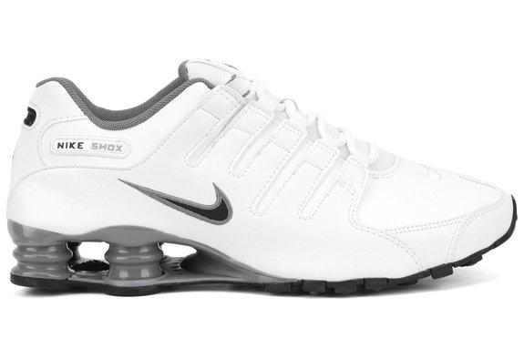 Nike Mens Shox NZ Running Shoe Grey