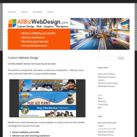 Wordpress custom design