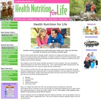 Custom website design for Health and nutrition