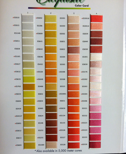 Exquisite Embroidery Thread Conversion Chart