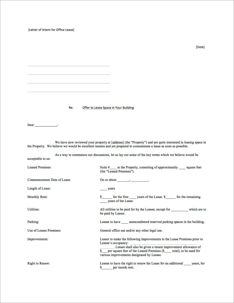 commercial lease negotiation letter sample | Poemsrom.co