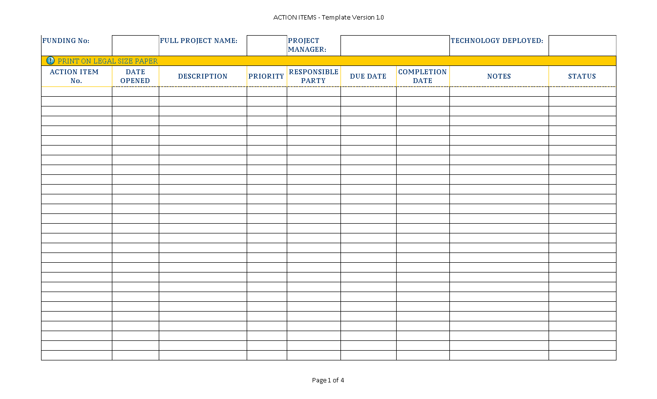 Sample Multiple Project Tracking Tool
