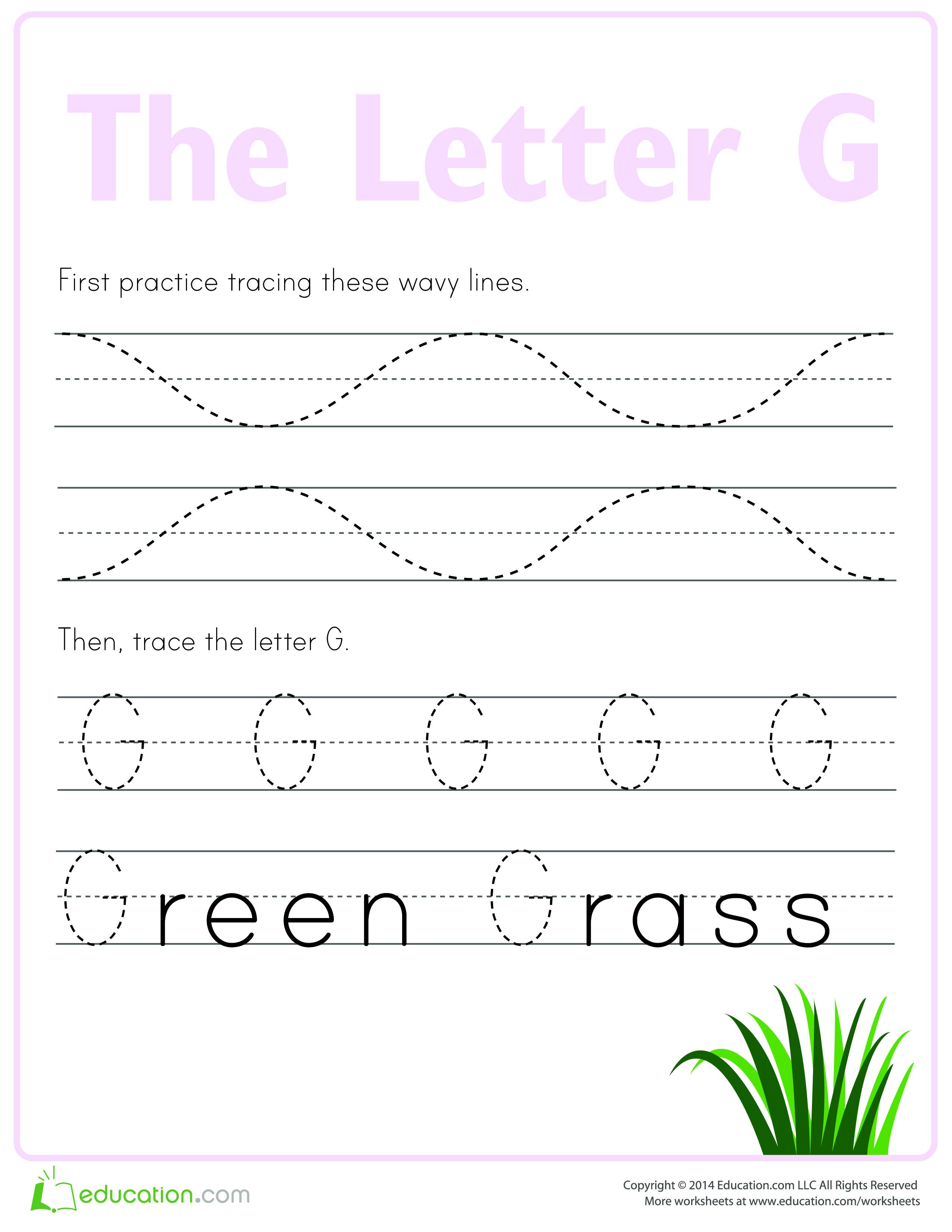 Practice To Write Letter G