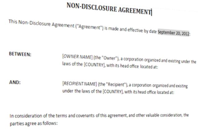 If anyways the confidential information gets a leak, you can take legal … Non Disclosure Agreement Template Templates At Allbusinesstemplates Com