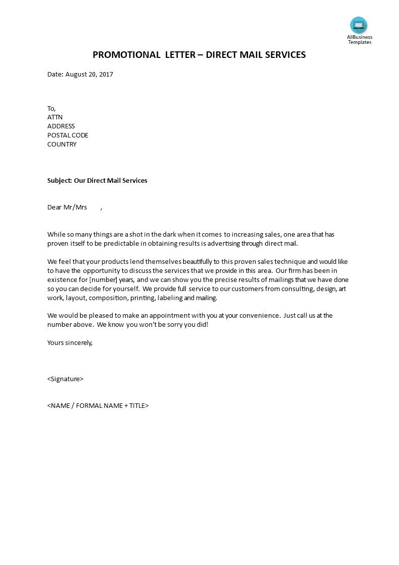 Our direct mailer advertisement designs are proven for conversion. É«˜çº§promotional Letter Direct Mail Services Æ·æœ¬æ–‡ä»¶åœ¨allbusinesstemplates Com