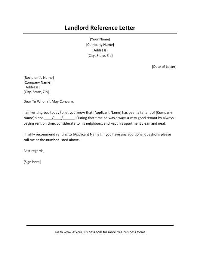 Al Reference Letter From Employer