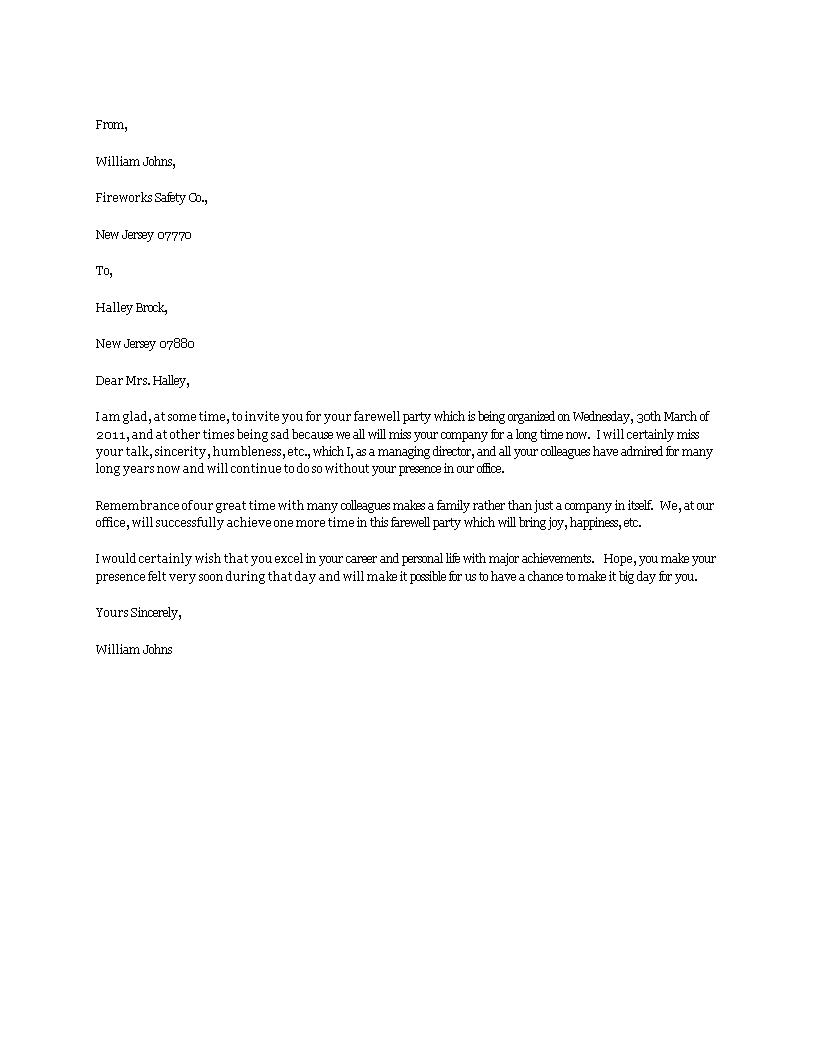 kostenloses farewell party invitation