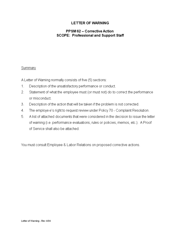 warning letter to employee for late attendance   Howtoviews.co