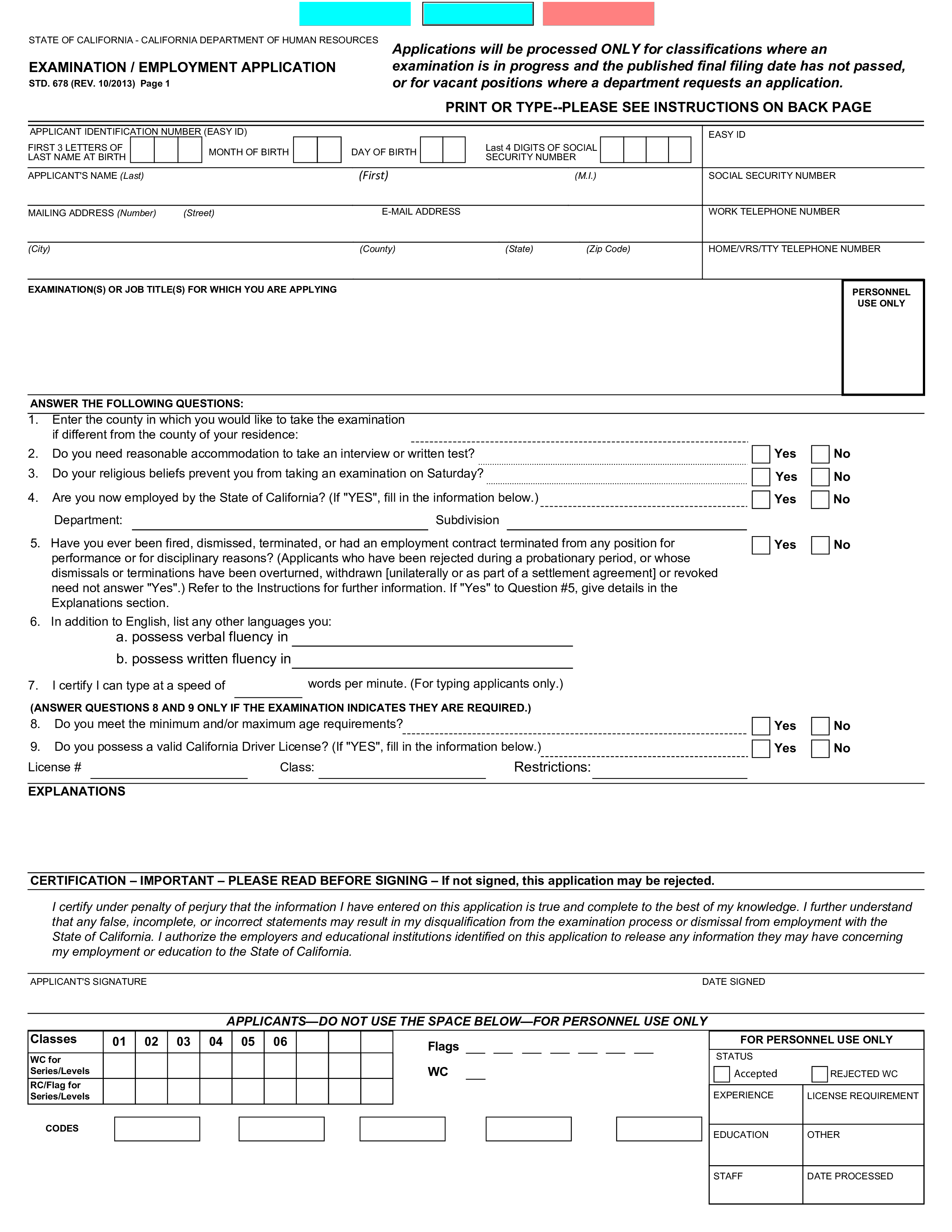 Position you are applying for. Standard Job Application Form Printable Templates At Allbusinesstemplates Com
