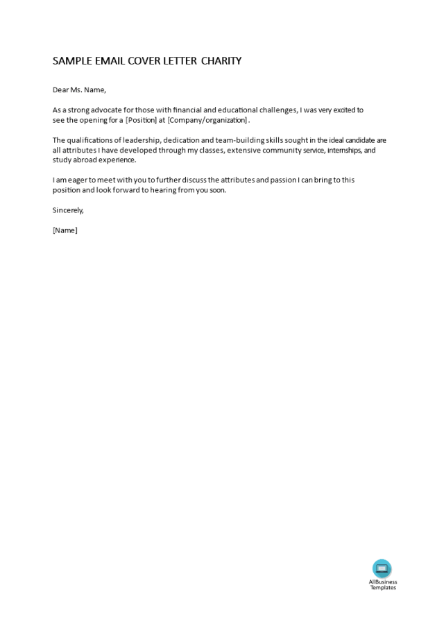 Kostenloses Simple job application email