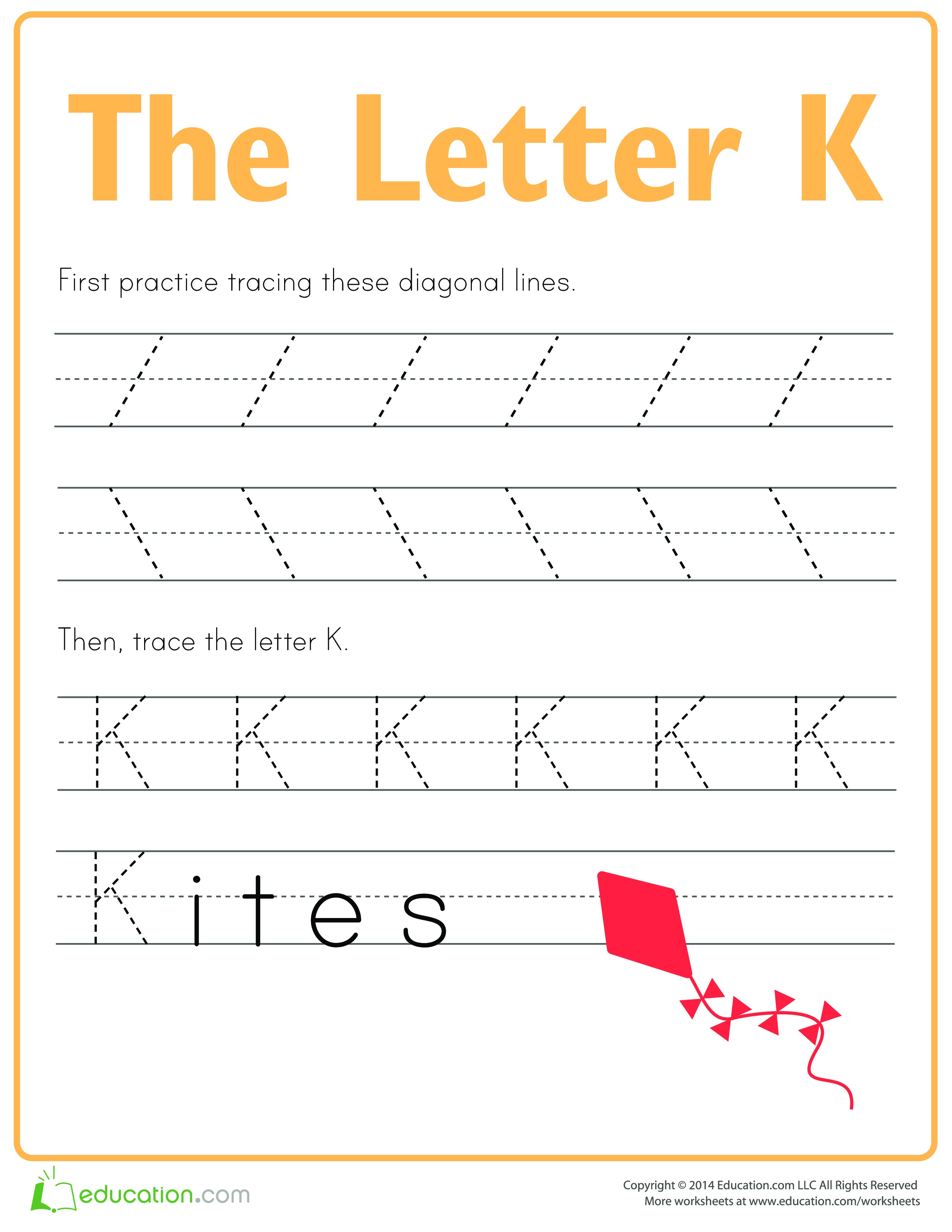 Learn To Write Letter K