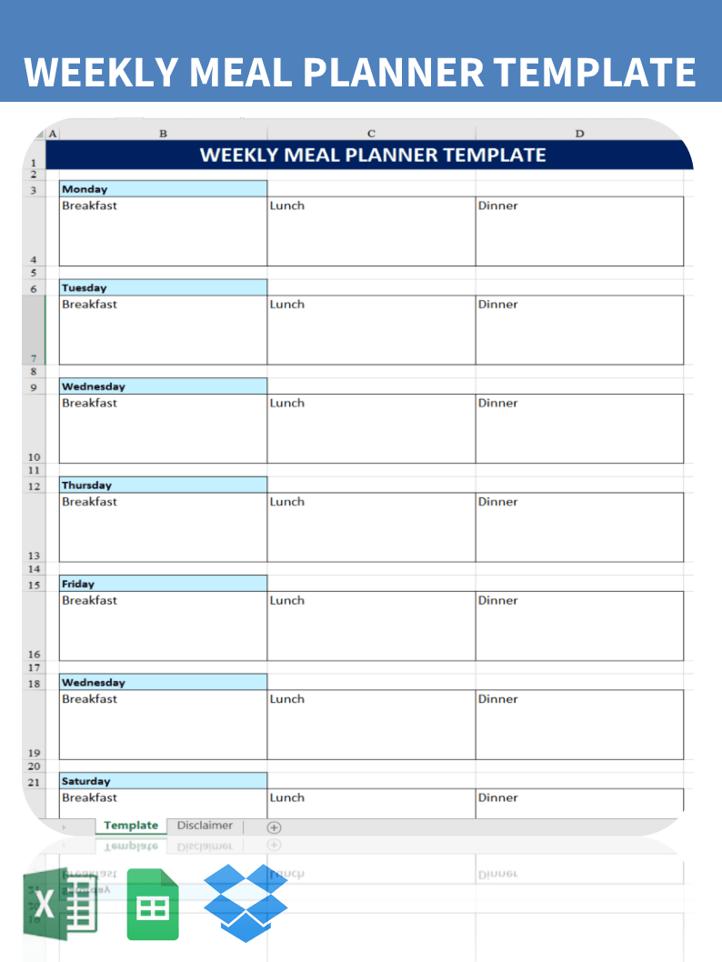 Printable Weekly Menu Planner