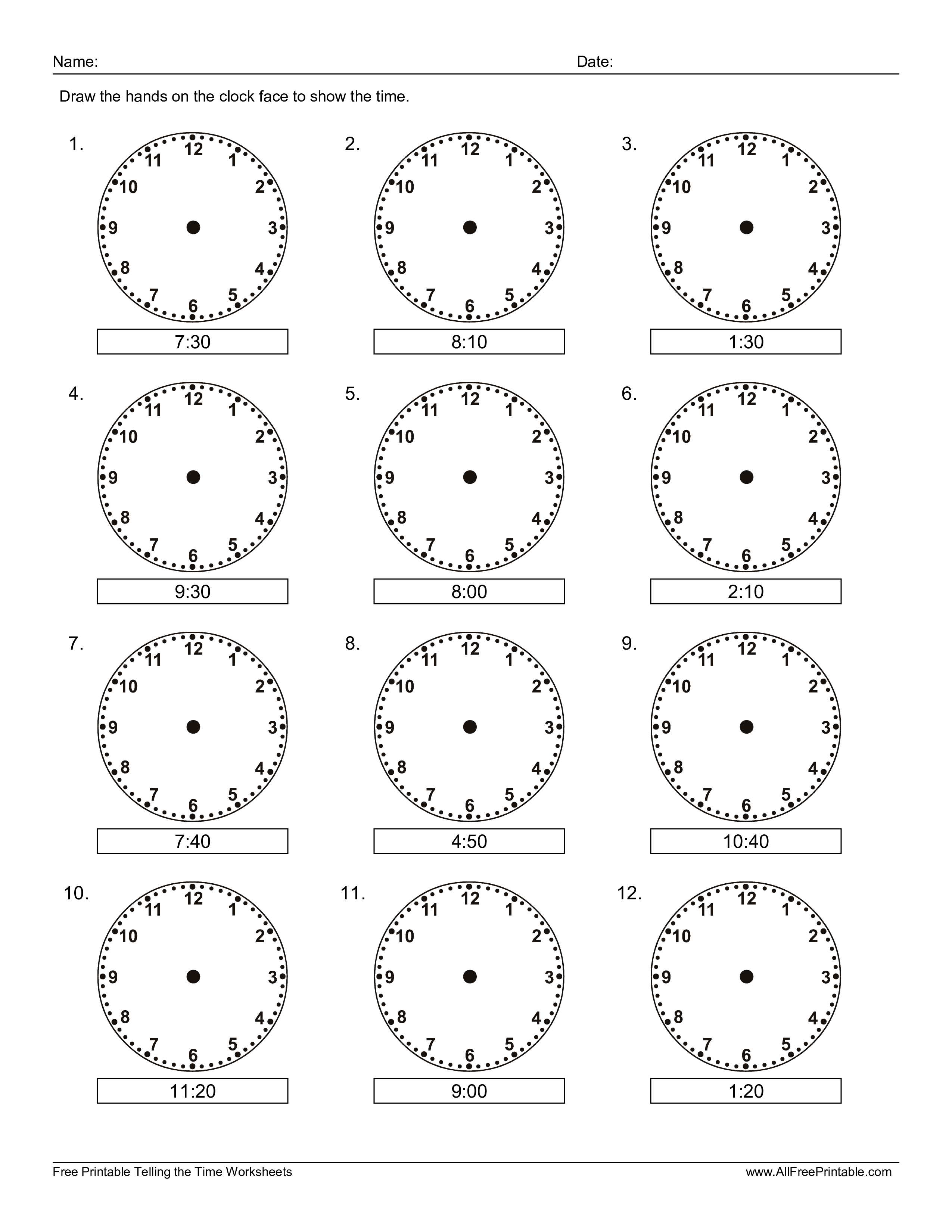 Learn How To Read The Clock For Kids