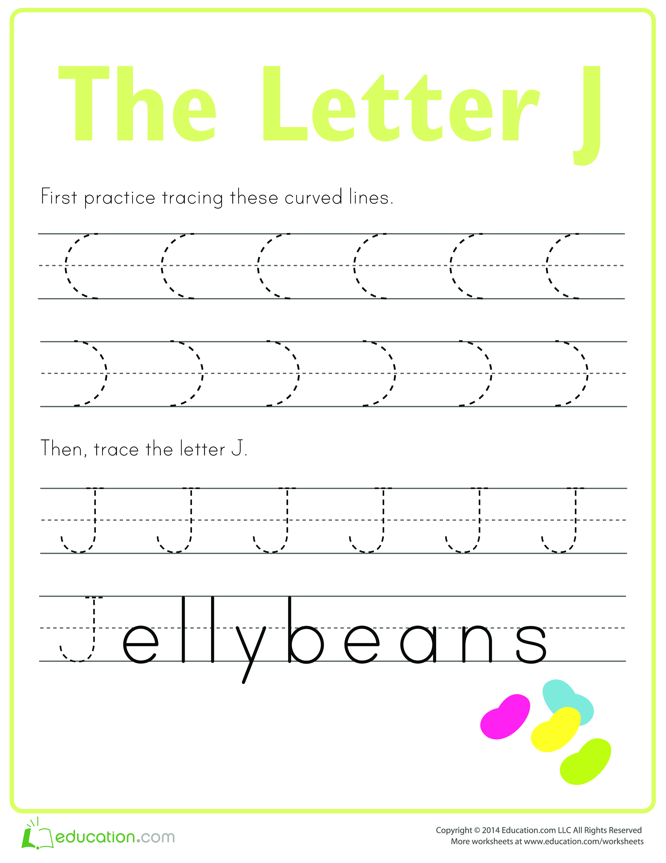 Learn To Write Letter J