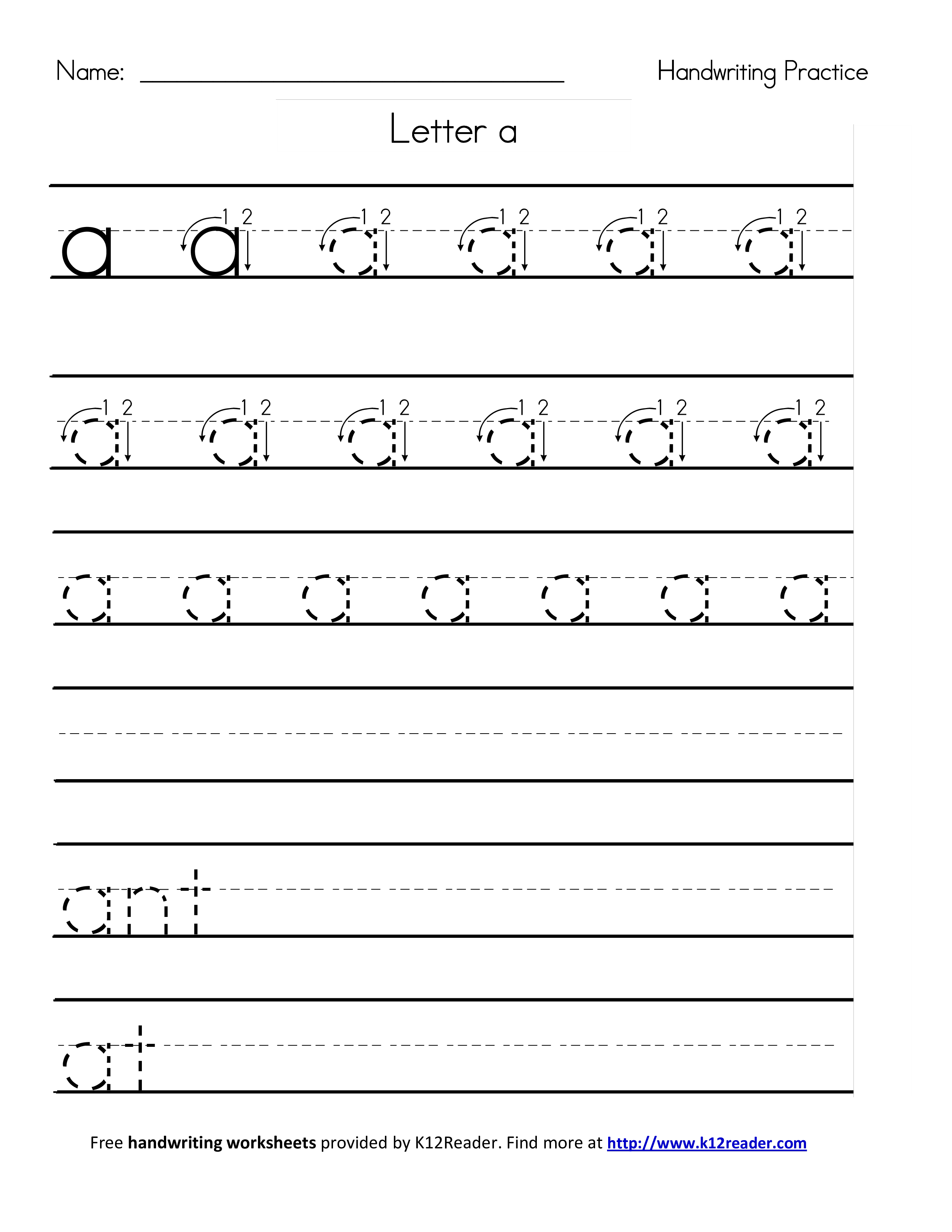 Letter Strings Worksheet