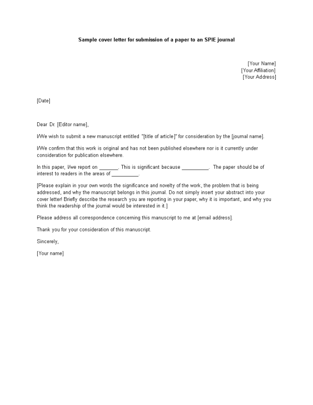Kostenloses Thank You Cover Letter Format
