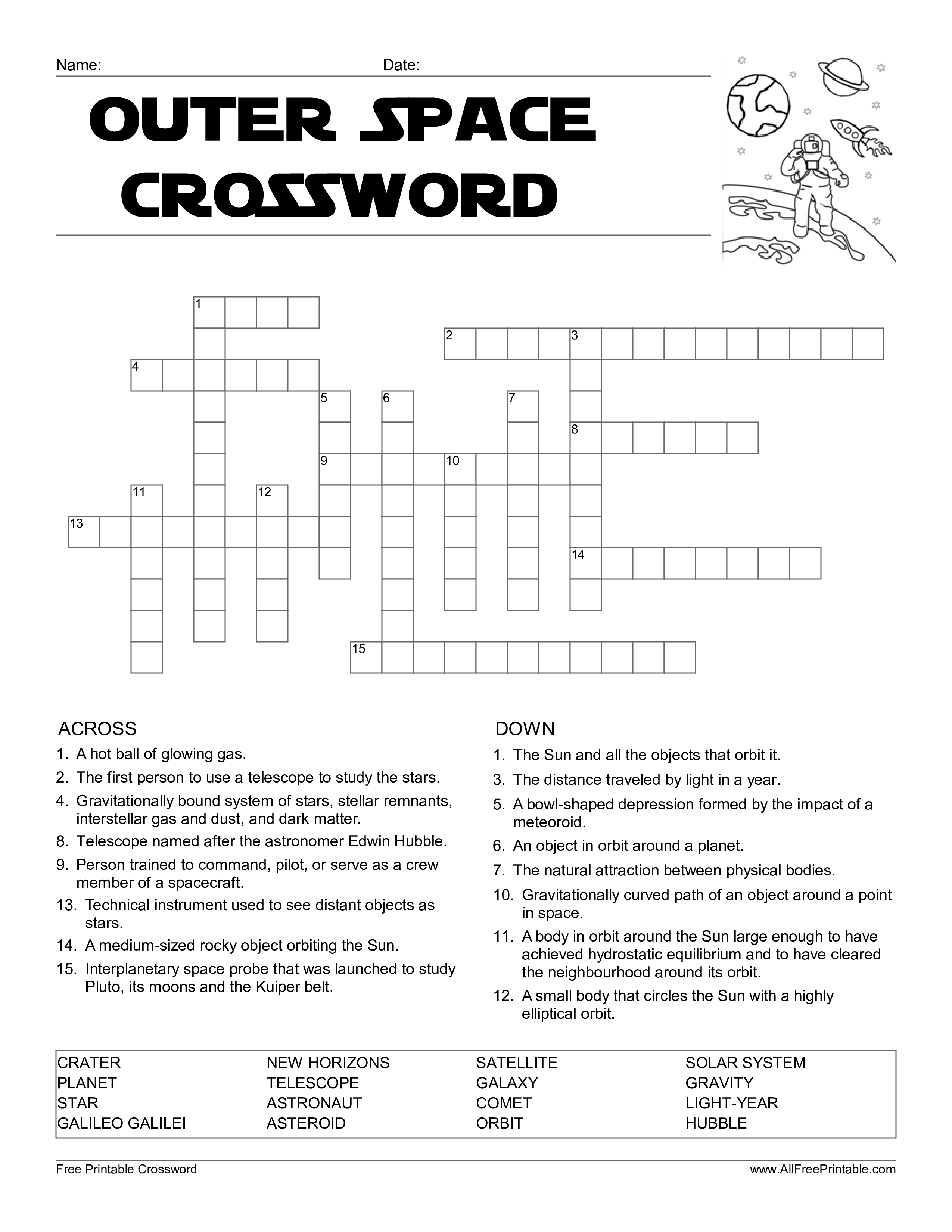 Stars On Maps Crossword