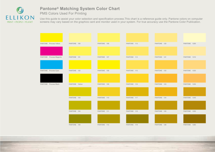 Pantone Matching System Color Chart Todayss