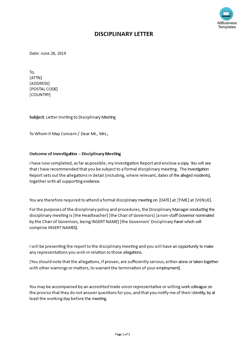 kostenloses sample letter inviting to