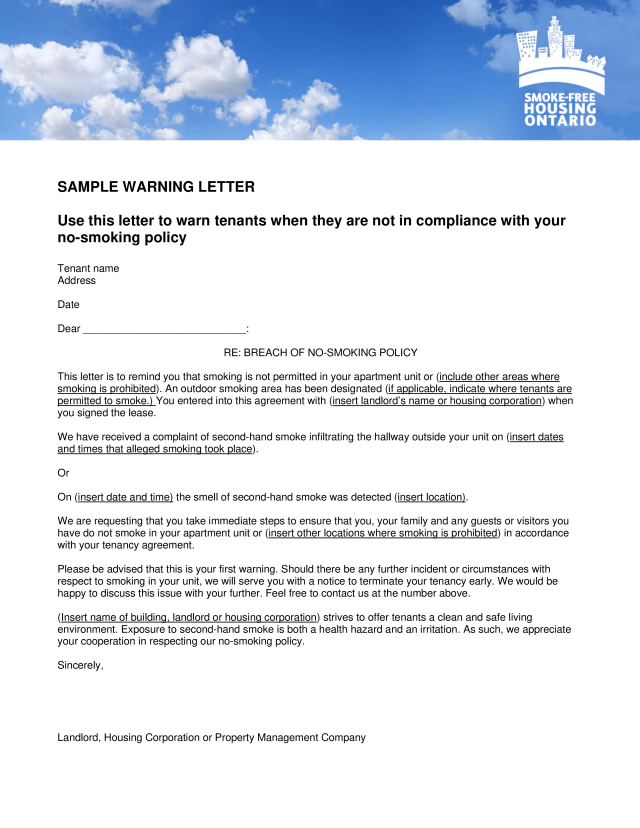 Sample Complaint Letter To Tenant From Landlord | Ownerletter co