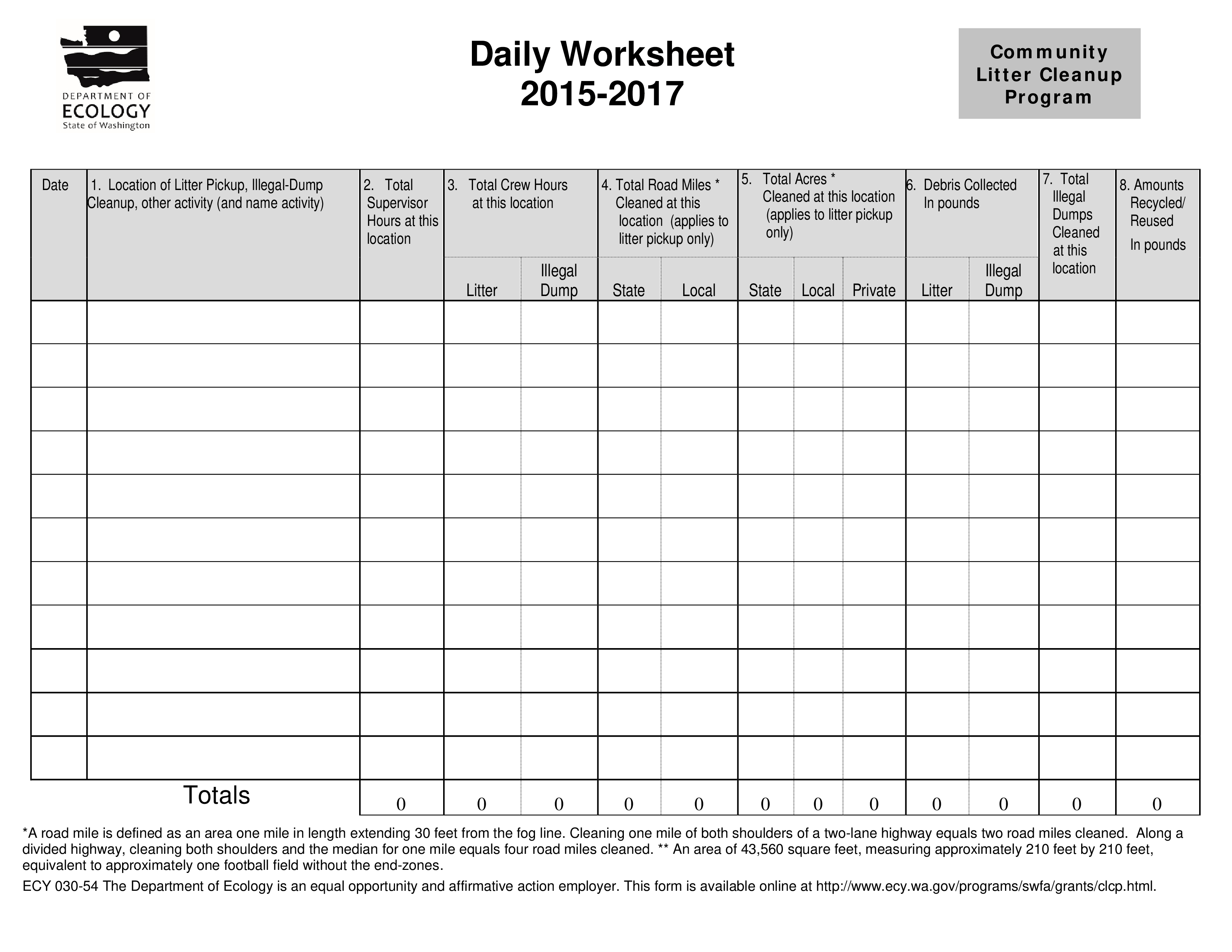 Daily Worksheet