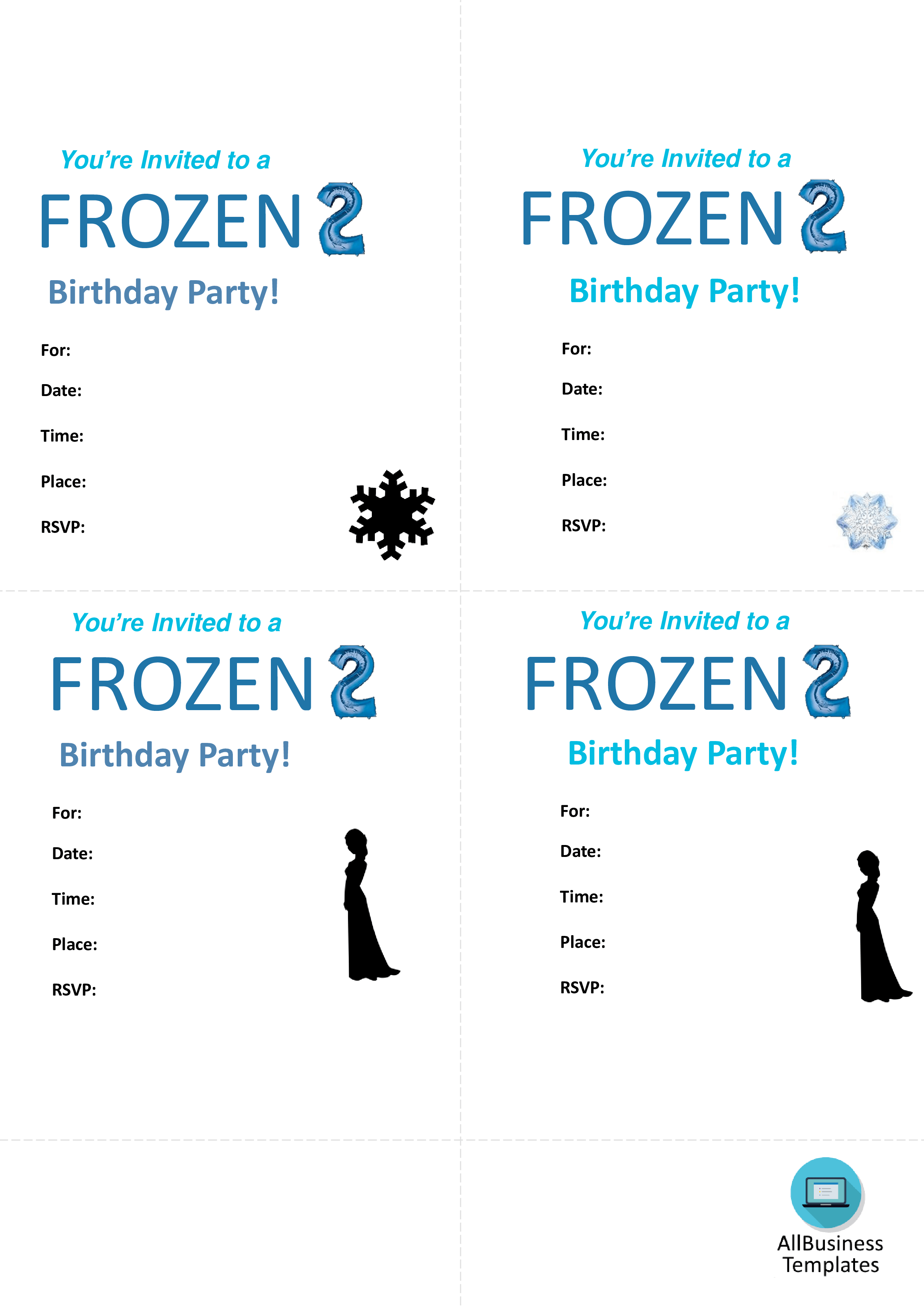 frozen birthday invitations templates