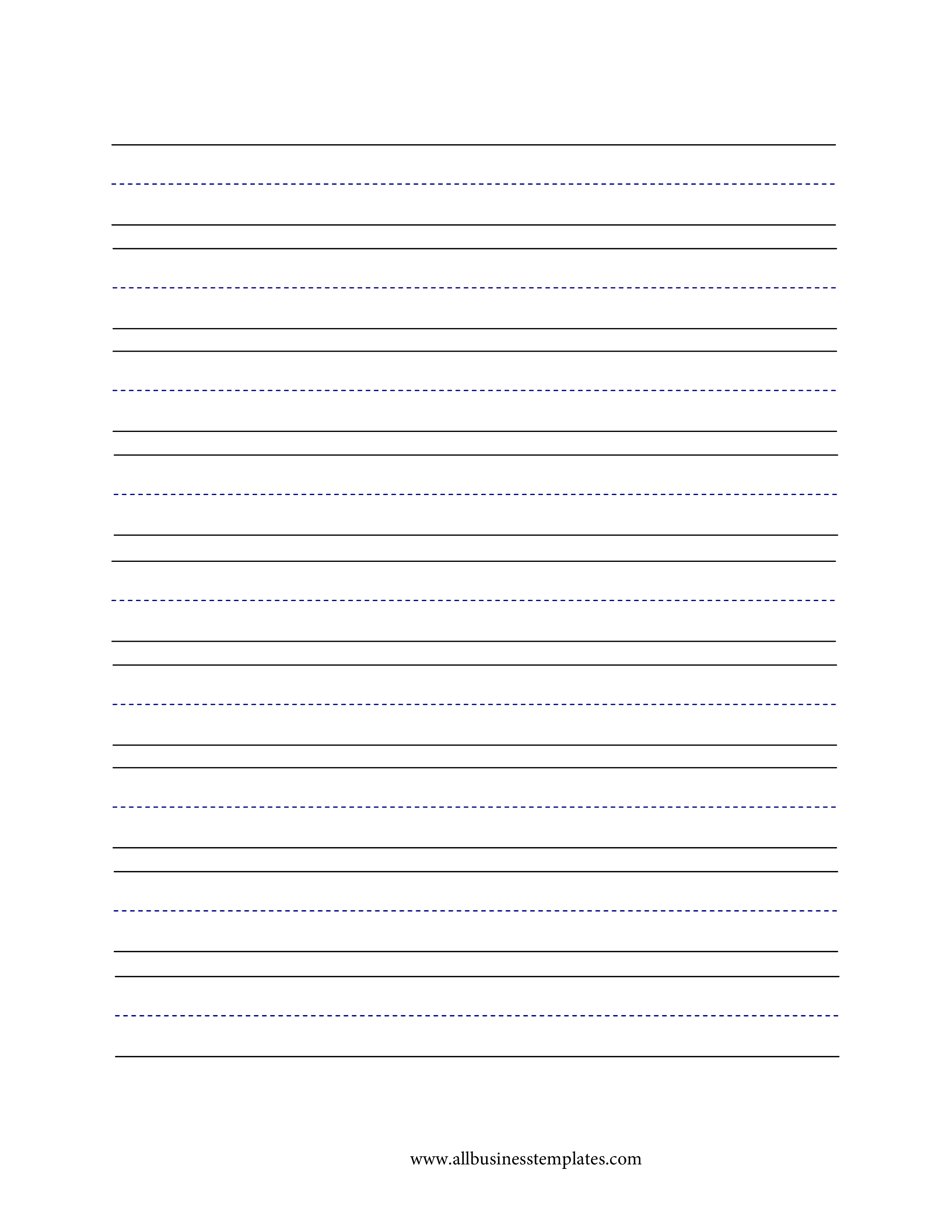 Lined Paper Handwriting Large Lines