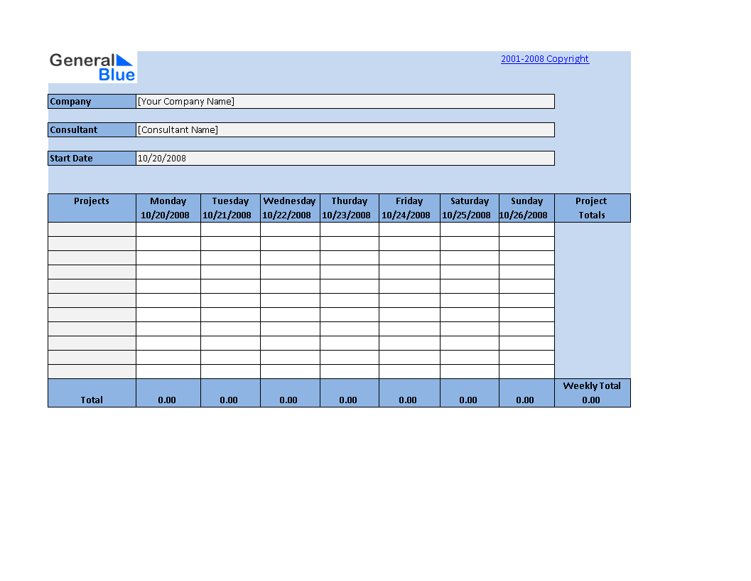 Timesheet Worksheet