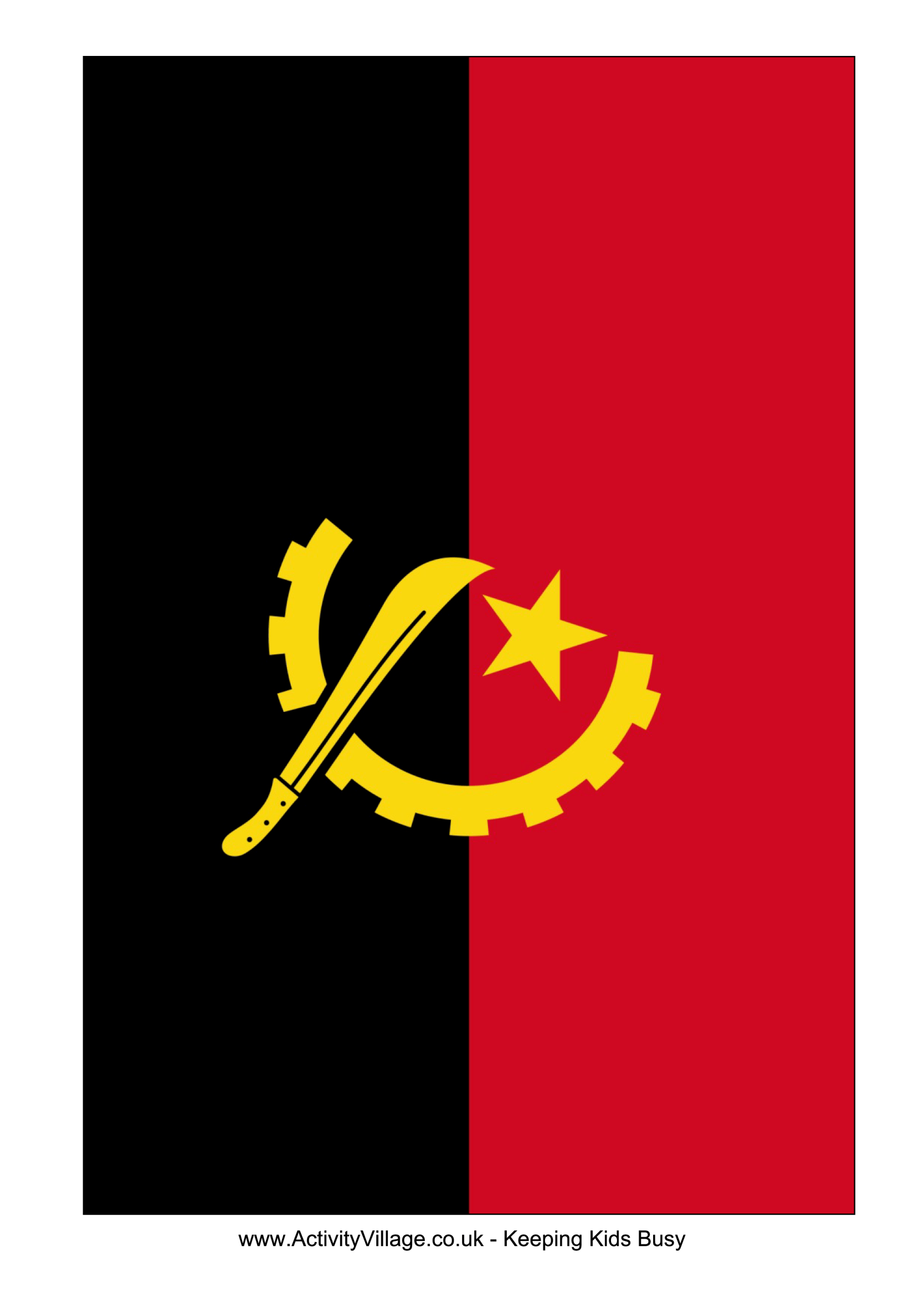 African Printable Flags Template