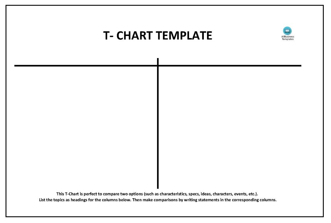 T Chart Templates