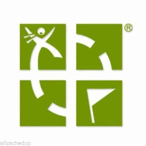 Green-Geocaching-Logo-Vinyl-Sticker-Official-Groundspeak-4-x-4-131589694253