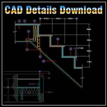 Stair Design Ideas,cuts and ladder detail,Section Stairs,Building Details,CAD drawings downloadable in dwg files