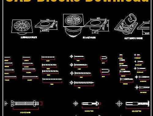 Hardware Blocks】Autocad Blocks & Drawings Download – Free