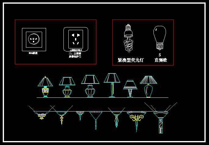 Lights Amp Lamps Blocks Free Autocad Blocks Amp Drawings