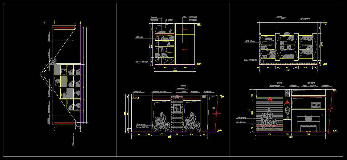 Study room design drawings v 1 free cad blocks for Room design cad