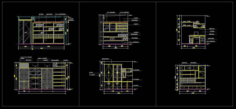 Study room design drawings v 2 free cad blocks for Room design cad