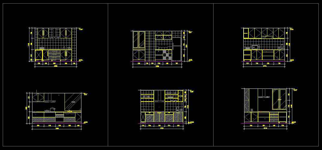 Kitchen Design Template】★ | Free Cad Blocks & Drawings ...